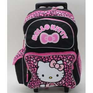 Back to School   Sanrio Hello Kitty Bow Large Rolling Backpack   Size
