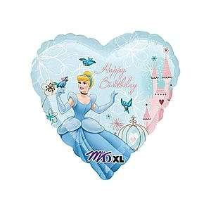 Disney Princess Cinderella Blue Heart Shaped Happy