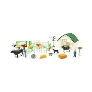 Country Life Large Farm Playset   Cows: Toys & Games