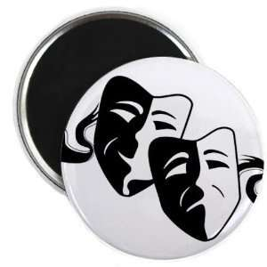 Creative Clam Comedy Tragedy Drama Masks On White Funny 2