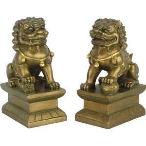 Small Pair of Foo Dogs, Male & Female