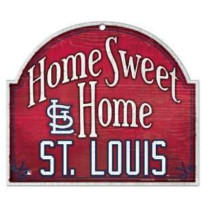 St. Louis Cardinals Wood Arched Sign 10x11