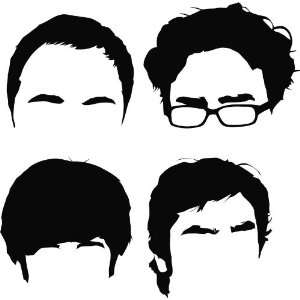 Big Bang Theory Vinyl Die Cut Decal Sticker 5.50 Black