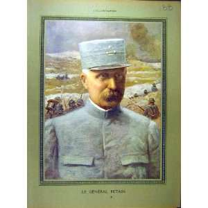 1916 Portrait General Petain Military Ww1 War Print Home