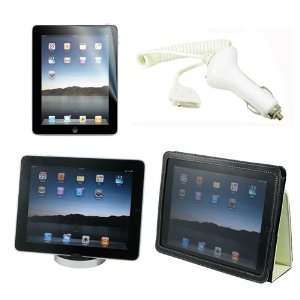 Premium PU White Leather Case for Apple Ipad + Screen