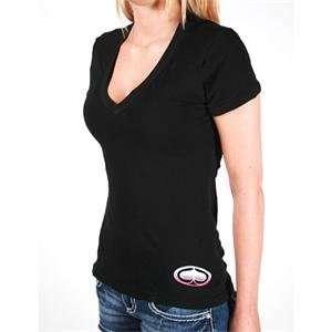 SRH Womens Big Bang V Neck T Shirt   Small/Black: Automotive