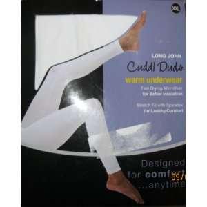 Cuddl Duds Warm Underwear Long John Spandex Stretch XXL