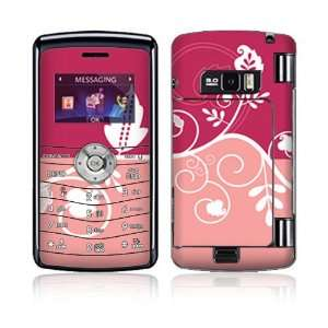 LG enV3 VX9200 Decal Skin Sticker   Pink Abstract Flower