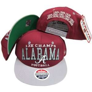 Alabama Crimson Tide 13X National Football Champs Plastic