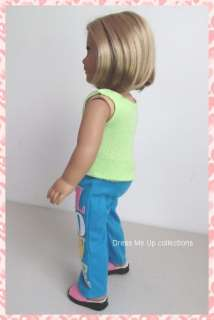 Love Pants, Fuchsia Slippers 4 American Girl Doll Clothes 153