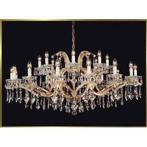 Waria Theresa Chandelier, AR 3289, 24 lights, Gold, 52