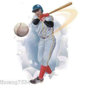 Breakout BASEBALL PLAYER Wall Decor Mural Decal Sticker