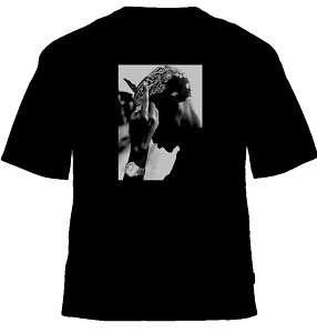 2pac Gangster Rap Middle Finger T Shirt