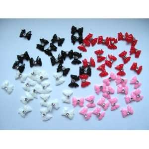 Nail Art 3d 60 Pieces Mix Bow/ Rhinestone for Nails, Cellphones 1cm