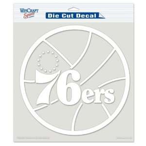 NBA Philadelphia 76ers 8 X 8 Die Cut Decal Sports