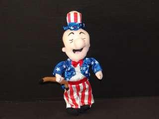 12 Mr Magoo American Flag Plush USA 4th of July Doll Stuffed Animal