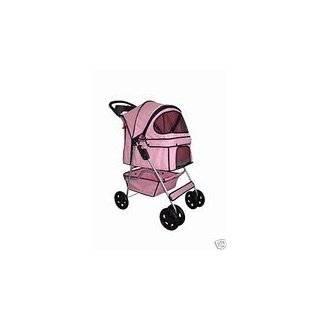 Classic Pink 4 Wheel Pet Stroller by BestPet