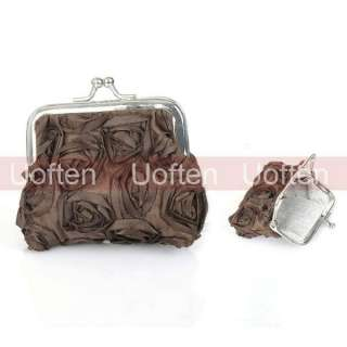 1x Roses Flowers Lady Women Girls Coin Purses Wallet