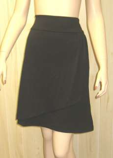 BLACK FAUX WRAP Mini Dress Business Career Skirt LANE BRYANT 3x Plus