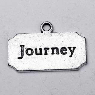 15 Pcs TIBETAN SILVER Journey Carved Charm Pendants