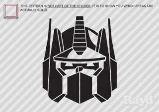 2X) Optimus Prime Sticker Decal Die Cut transformers