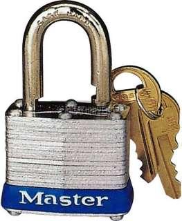 Master Lock Cylinder Tumbler Steel Padlock (3D) (Item #10023)