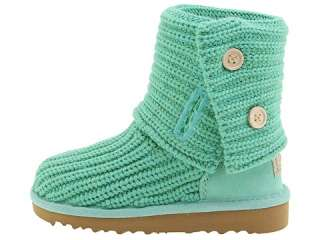 NIB UGG Crochet Cardy Boots Spearment Green Girls 11