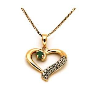 Gold Plated Heart Pendant Necklace Jewelry