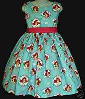 Disney Princess Ariel Cameo Jumper Dress Sz 12m 10yrs