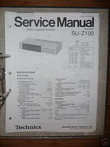 Service Manual Technics SU Z100 Amplifier,ORIGINAL