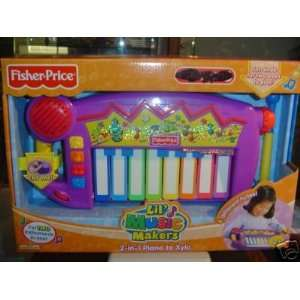 Fisher Price Lil Music Makers 2 in 1 Piano & Xylophone Toys & Games