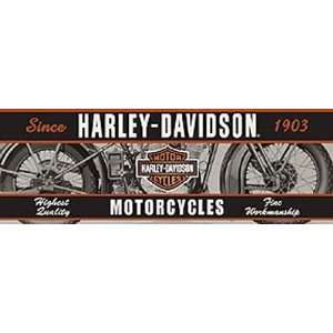 Glasscapes 60007 Harley Davidson Vintage Motorcycle Window