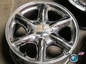 One 99 00 GMC Yukon Denali Factory Chrome 16 Wheel OEM Rim 5094