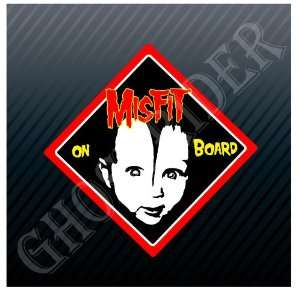 Misfit Baby on Board Trucks Car Sticker Decal Everything
