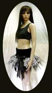 GIRLS ZEBRA ANIMAL PRINT TUTUS DANCE STAGE GOTH COSTUME