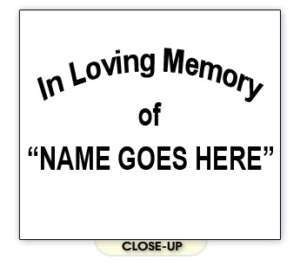 IN LOVING MEMORY custom funeral death friend SHIRT 2X