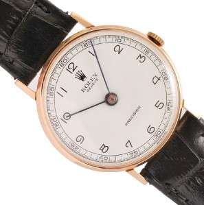SOLID ROSE GOLD MANUAL WIND CAL 1601 VINTAGE DRESS MEN WATCH