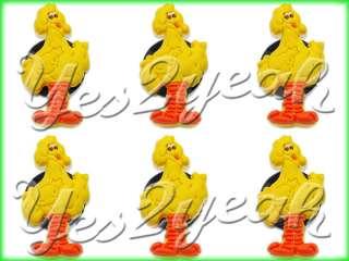6X Shoe Charms Jibbitz Sesame Street Big Bird 1666