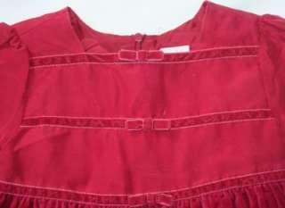GYMBOREE Holiday Xmas Girls Silk Velvet Dress 12 18 M
