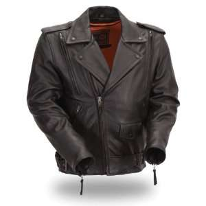 First Manufacturing Black XXXXX Large Mens Updated Motorcycle Jacket