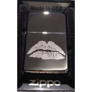 Zippo Custom Lighter   Sexy Womans Lips Kissing Logo High
