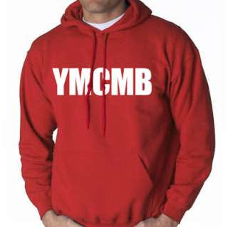 YMCMB HOODIE YOUNG MONEY LIL HIP WEEZY HOP WAYNE SWEAT SHIRT RAP  RED