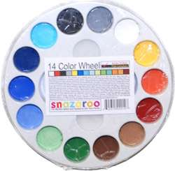 SNAZAROO 14 Color Wheel FACE PAINT PAINTING PALETTE Kid