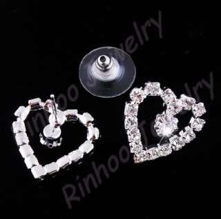 heart wedding party Rhinestone jewelry Set 21410 NEW