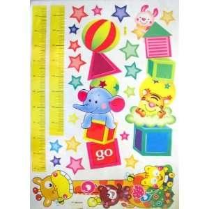 Room Deco (Tm) Hl5862  Cute Animal&star Height Measurement Ruler