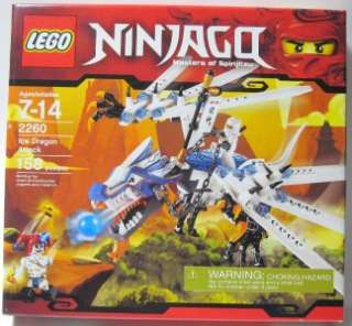 LEGO 2260 NINJAGO ICE DRAGON Attack Loose no minifigures Mint