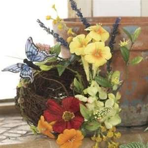 Floral Birds Nest with Butterflys Flowers