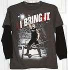 WWE by Hybrid~Boys Gray/Black WWE (I Bring it) T Shirt~Size MEDIUM (10