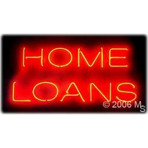 Neon Sign   Home Loans   Large 13 x 32  Grocery