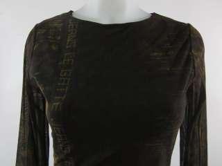 LEGATTE JEANS Brown Mesh Full Length Maxi Dress Sz M